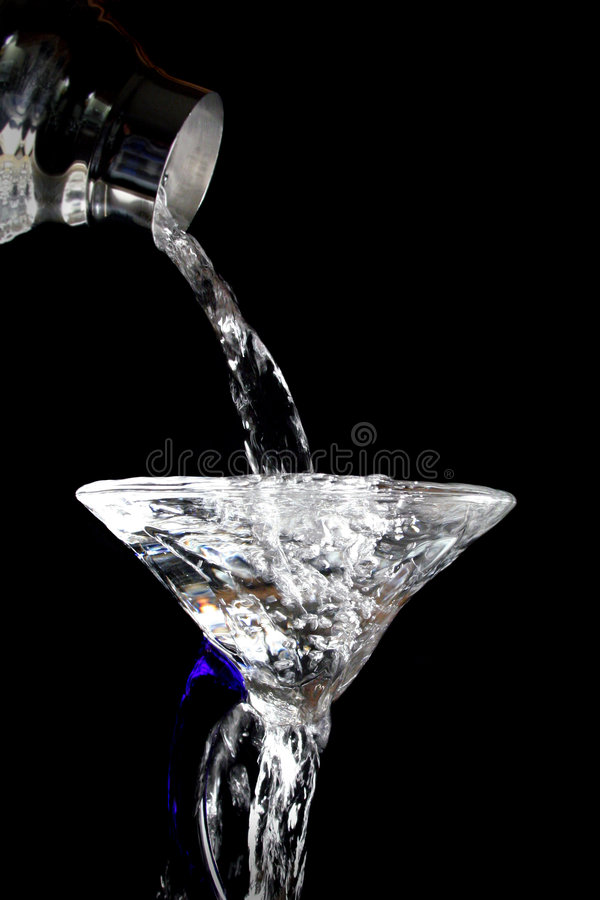 Download Pouring a martini stock photo. Image of water, spill, drink - 2060564