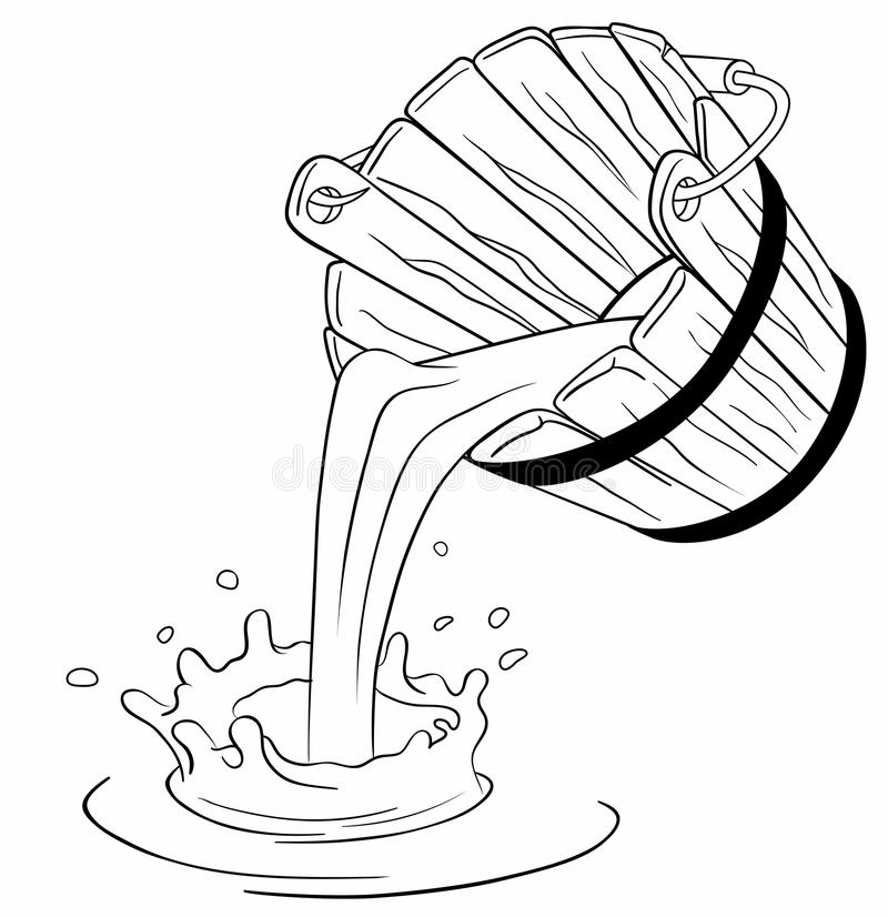 Download Pouring milk from bucket stock illustration. Image of container - 22755268