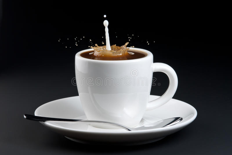 Download Pouring Milk Into Coffee Royalty Free Stock Image - Image: 16266246