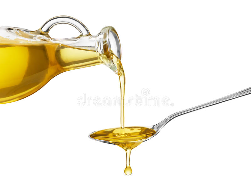 Pouring Oil Royalty Free Stock Images