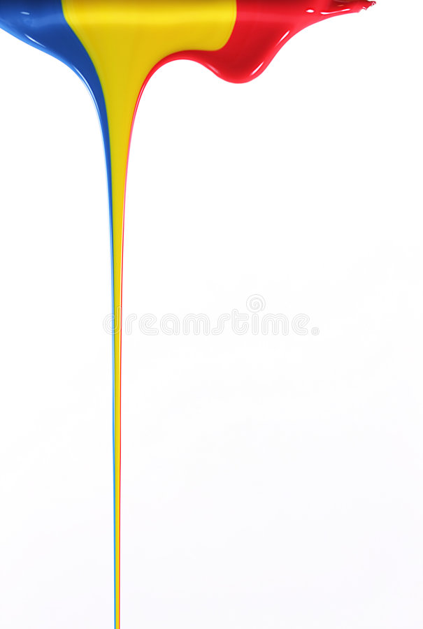 Free Pouring Primary Colors Royalty Free Stock Images - 3740039