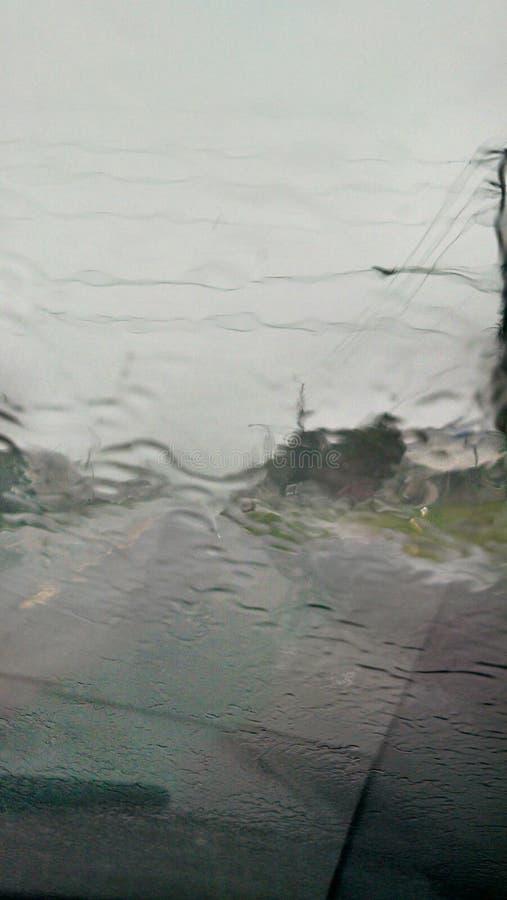 Pouring rain Tampa Florida afternoon stock photos