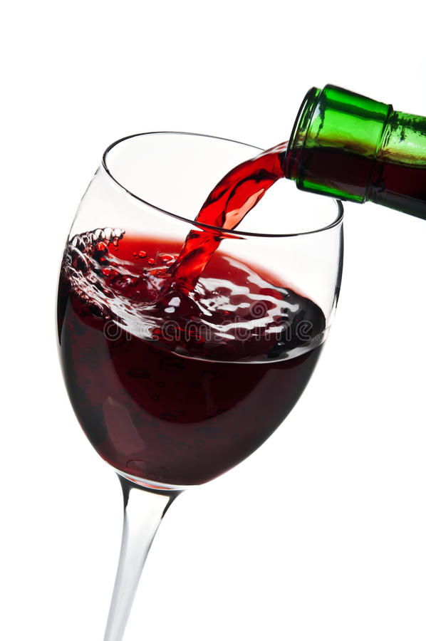 Download Pouring red wine stock photo. Image of merlot, elegant - 24428870