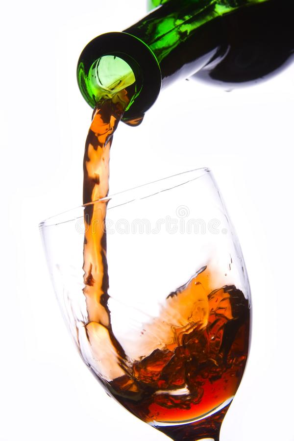 Pouring Red Wine stock photography