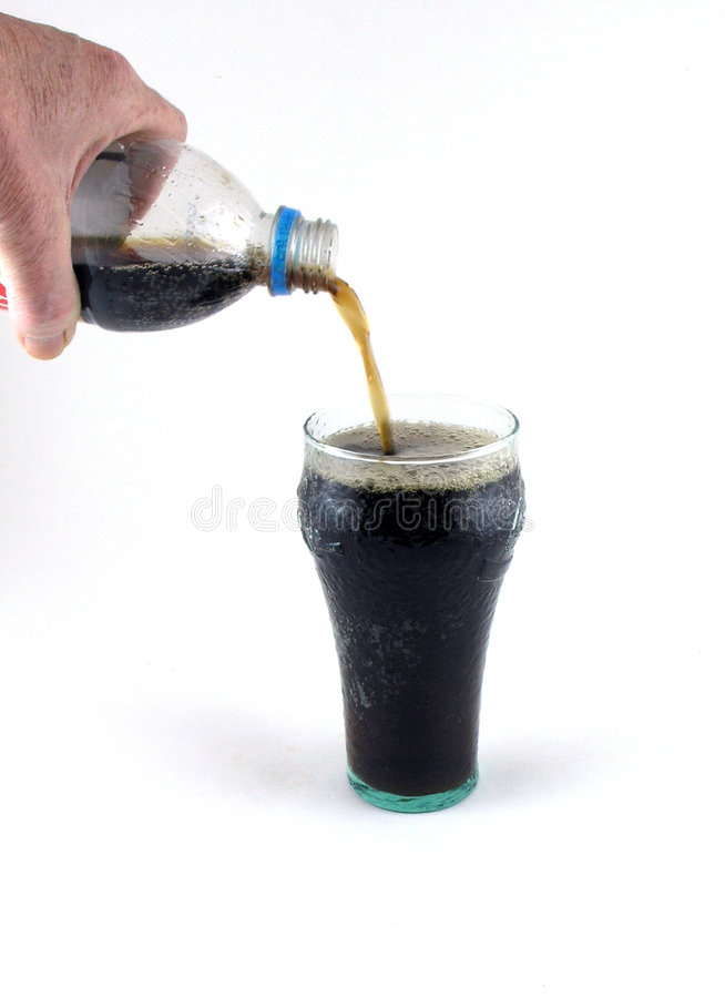 Download Pouring Soda stock image. Image of beverage, hand, glass - 67993