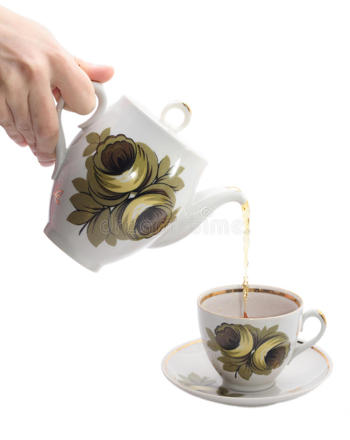 Pouring Tea Royalty Free Stock Images