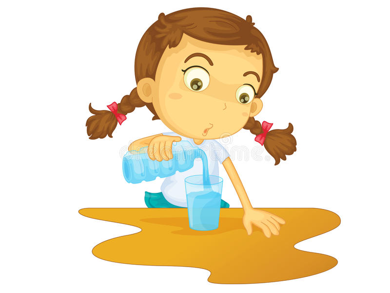 Download Pouring water stock vector. Image of person, plastic - 24456530