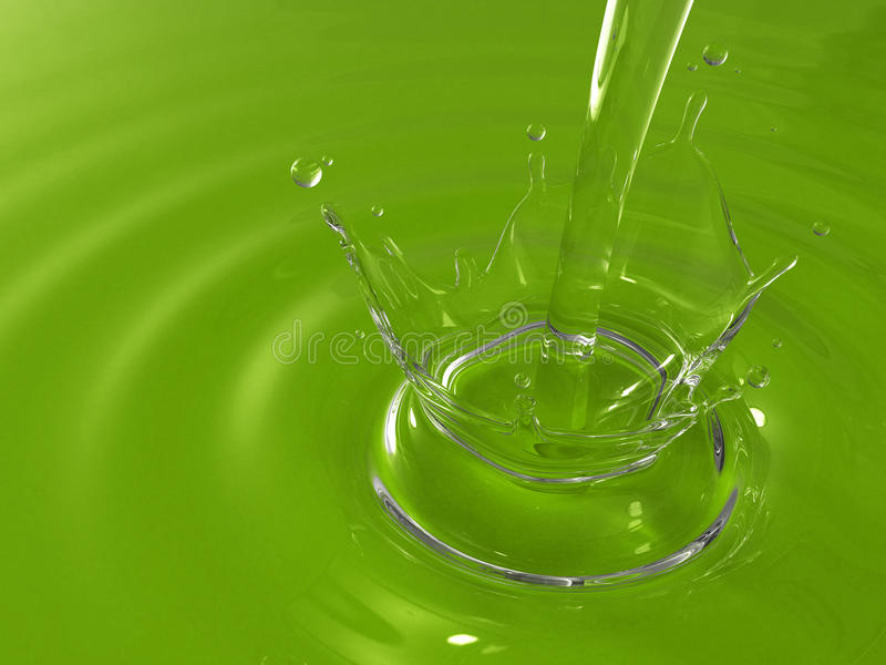 Pouring water creating ripples and splashing vector illustration