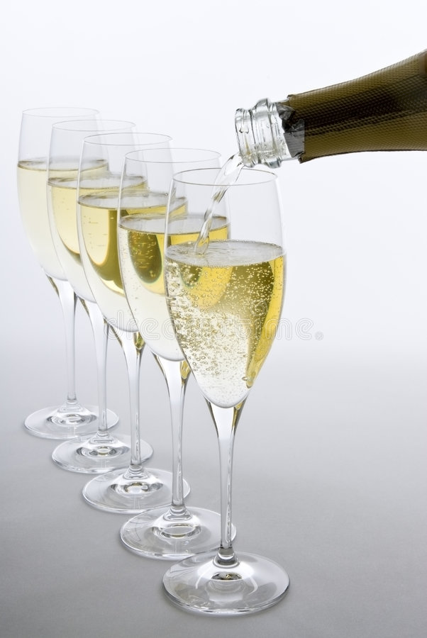 Download Pouring White Sparkling Wine Royalty Free Stock Images - Image: 7053519