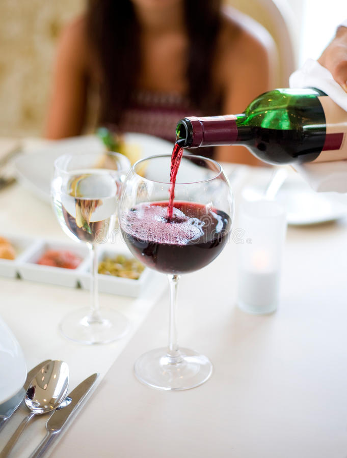 Download Pouring Wine stock photo. Image of girlfriend, handsome - 12994620