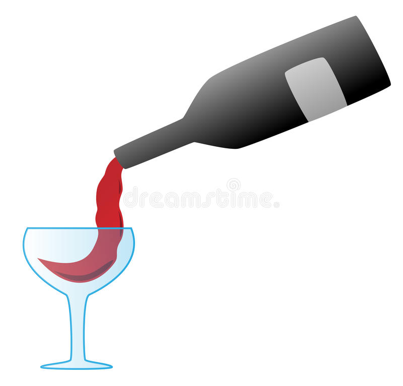 Download Pouring wine stock vector. Illustration of glass, dining - 28603647