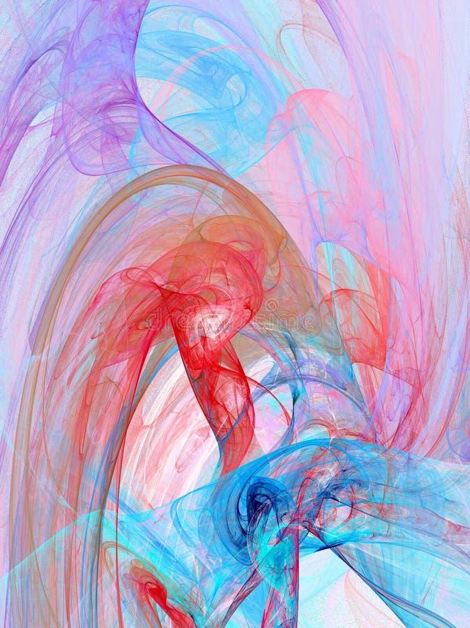 Pourpre, bleus et roses illustration de vecteur