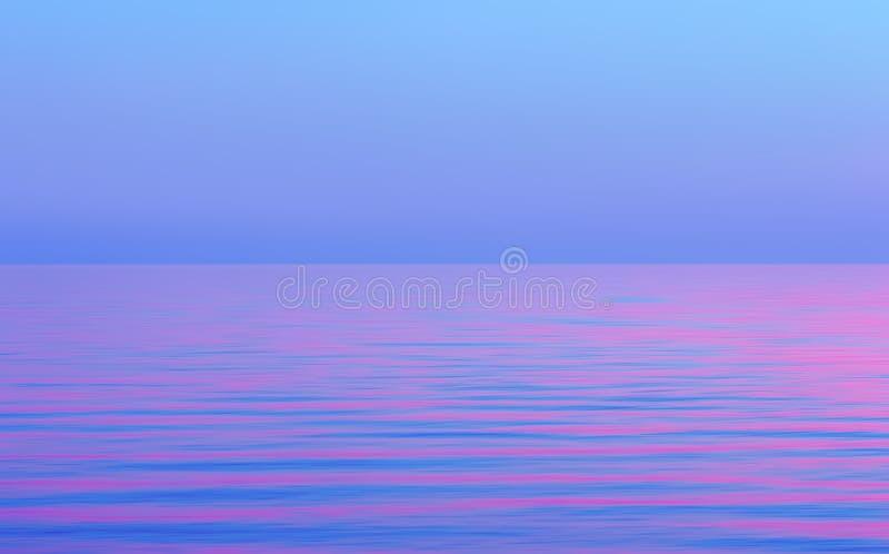 Pourpre brouillé par mouvement abstrait avec le fond rose de paysage marin photographie stock