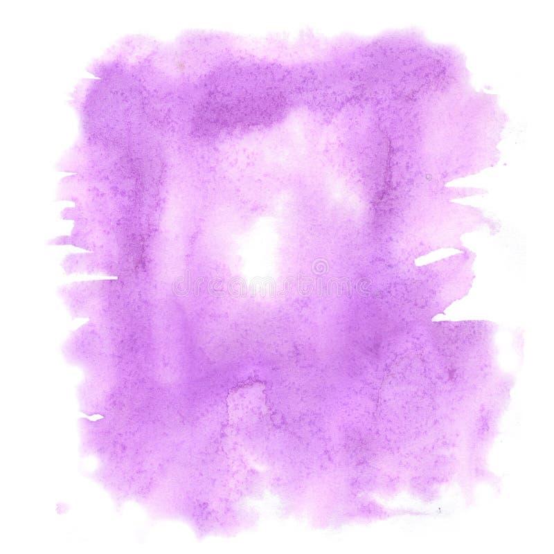 Pourpre d'aquarelle d'éclaboussure la baisse abstraite d'aquarelle a isolé la tache pour votre art de conception illustration stock