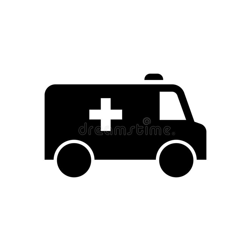 Pourpre de voiture d'ambulance illustration libre de droits