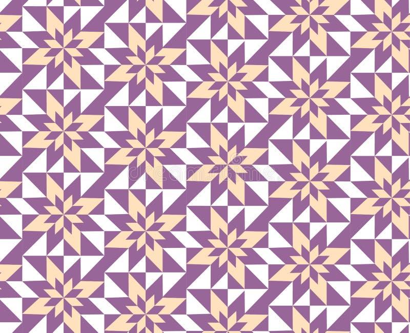 pourpre géométrique de configuration illustration stock