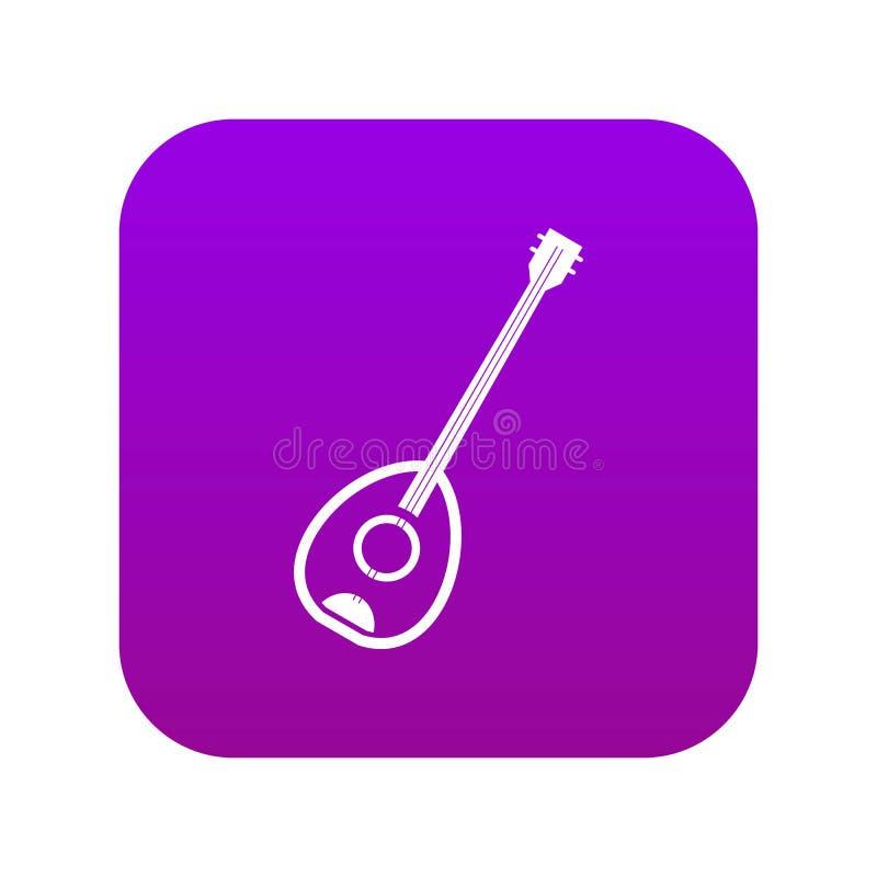 Pourpre numérique de musique de Saz d'icône turque d'instrument illustration de vecteur