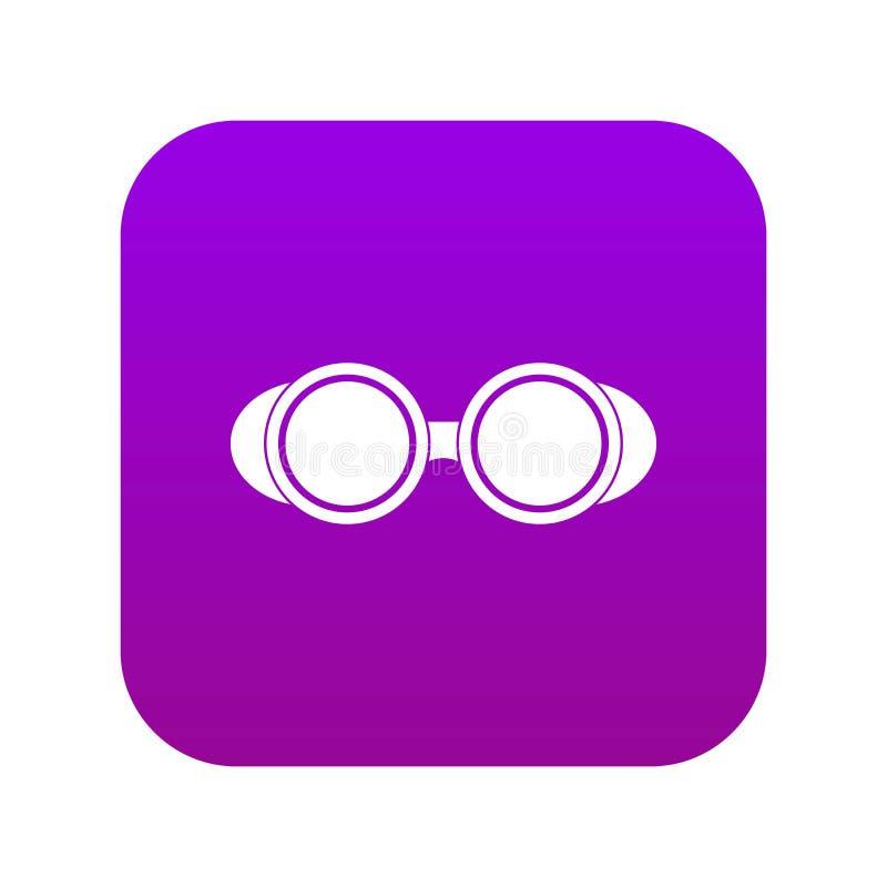 Pourpre numérique de soudure d'icône en verre illustration stock