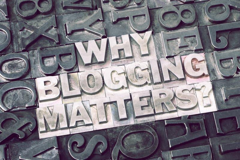 Pourquoi blogging importe photographie stock libre de droits