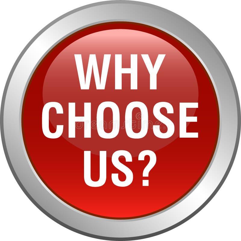 Pourquoi choisissez-nous bouton illustration de vecteur