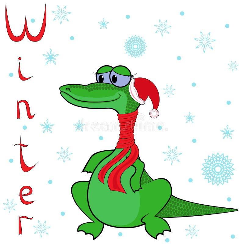 Pourquoi crocodile est si froid en hiver ? illustration libre de droits