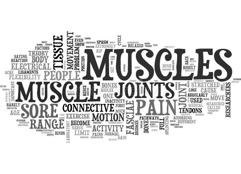 Pourquoi les muscles deviennent endoloris exprimez le nuage illustration stock