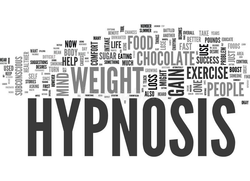 Pourquoi les travaux d'hypnose pour la perte de poids expriment le nuage illustration libre de droits