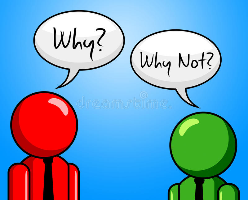 Pourquoi pas représente le point de vue et l'hypothèse illustration libre de droits