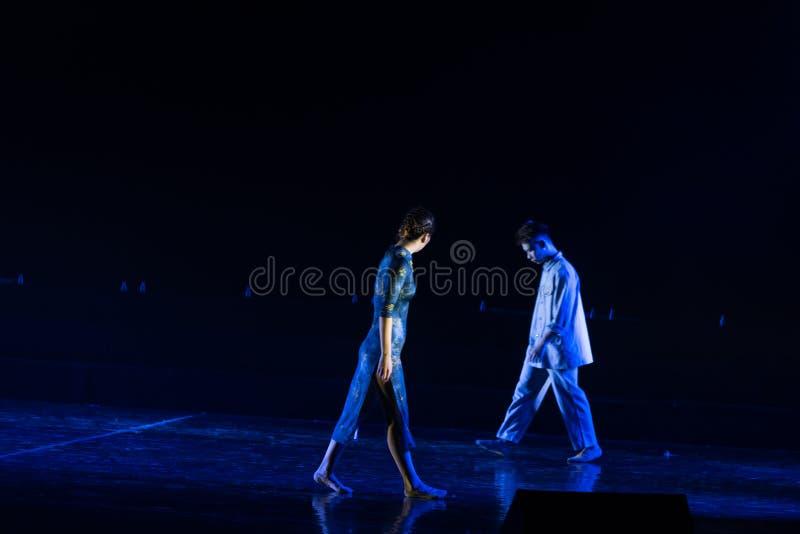 Poursuite de 3 légers--Âne de drame de danse obtenir l'eau photos stock
