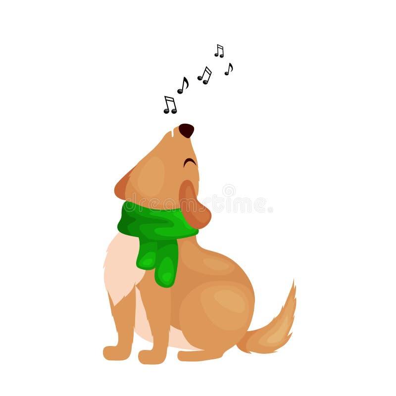 Poursuivez la musique de chansons et de tintements du carillon de Noël de chant sur l'illustration de vecteur d'amusement de vaca illustration stock