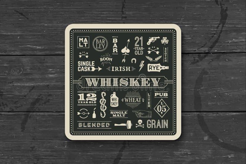 Pousa-copos para a bebida do uísque e do álcool ilustração stock
