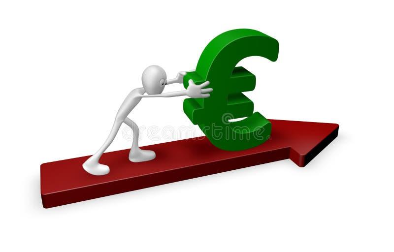 Poussée de l'euro illustration stock