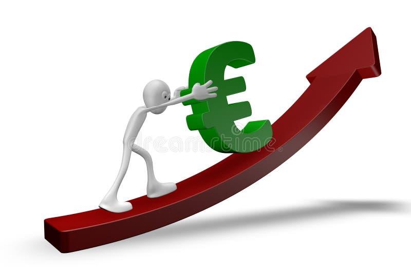 Poussée de l'euro illustration libre de droits