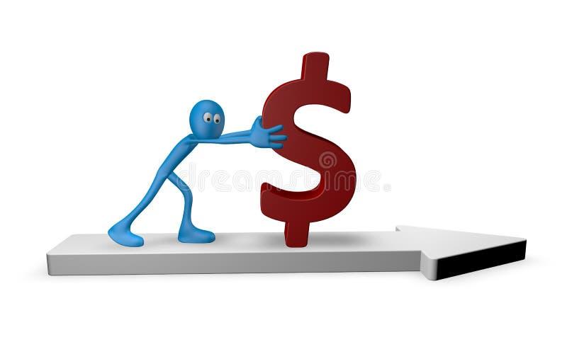 Poussée du dollar illustration de vecteur