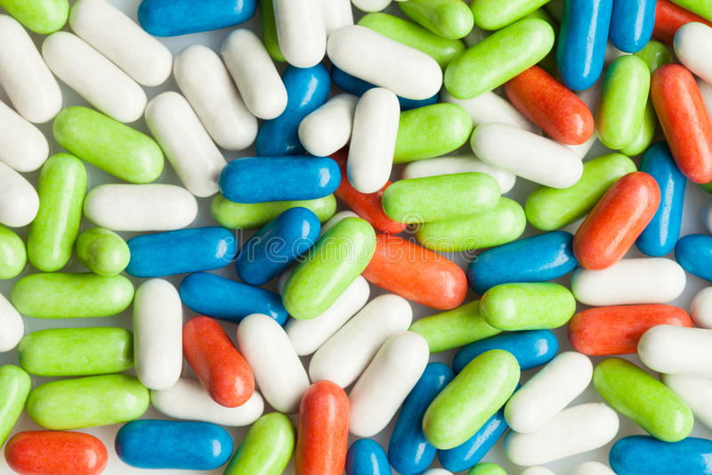 Pousse étroite des pilules photographie stock