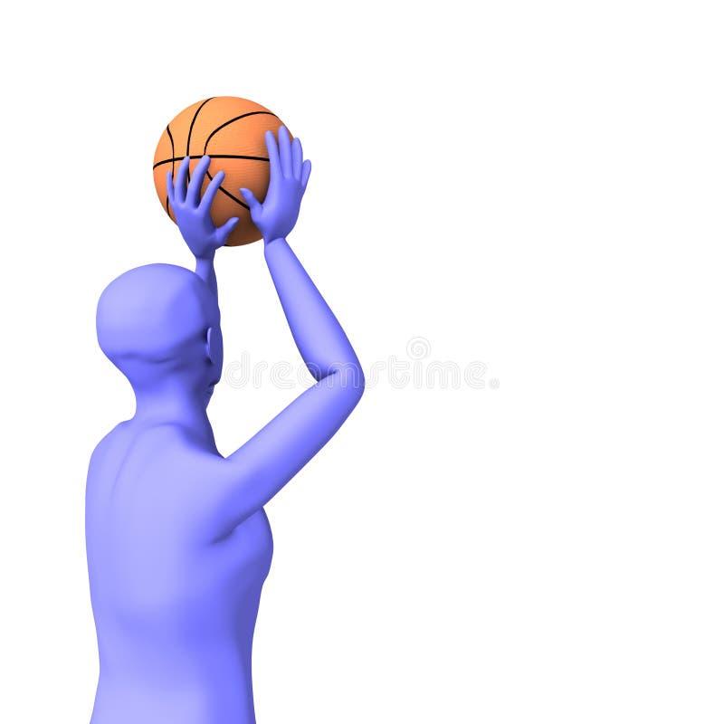 Pousse de joueur de basket image libre de droits