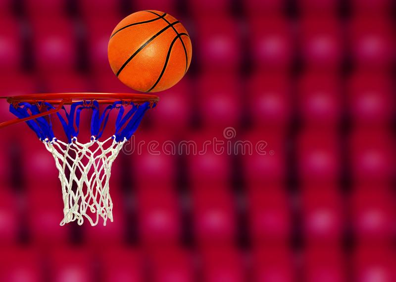 Pousse de score de basket-ball images stock