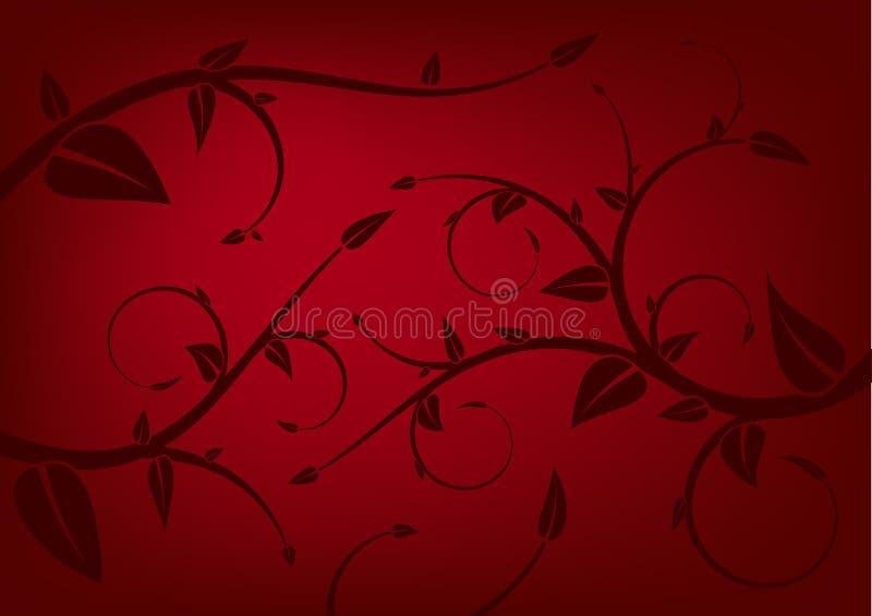 Pousse des feuilles le fond illustration de vecteur