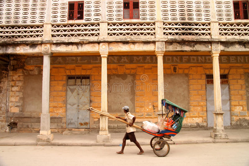 Download Pousse pousse transport editorial stock image. Image of colonial - 23382199