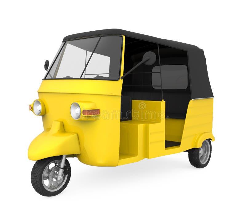 Pousse-pousse automatique jaune illustration stock