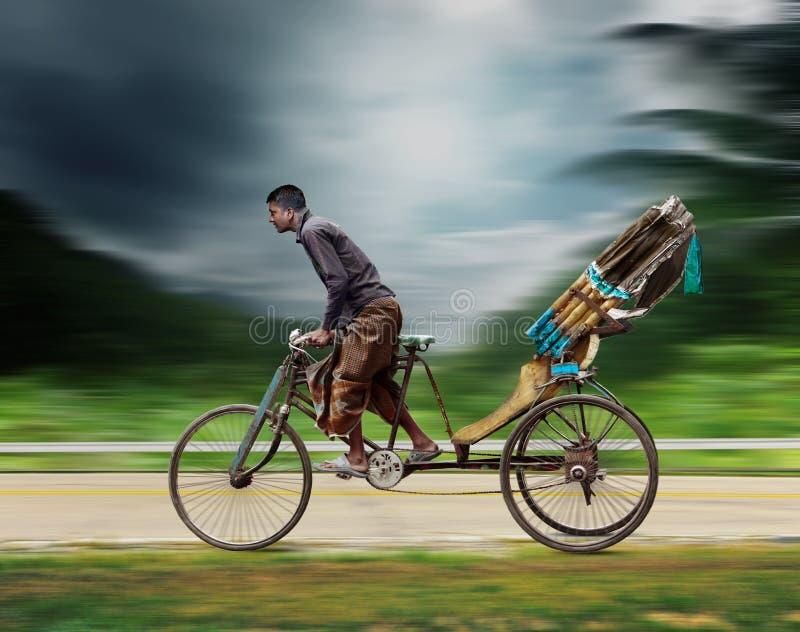 Pousse-pousse du Bangladesh images libres de droits