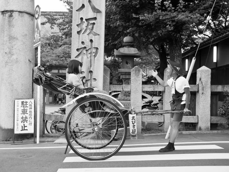 Pousse-pousse, transport de Japonais photo stock