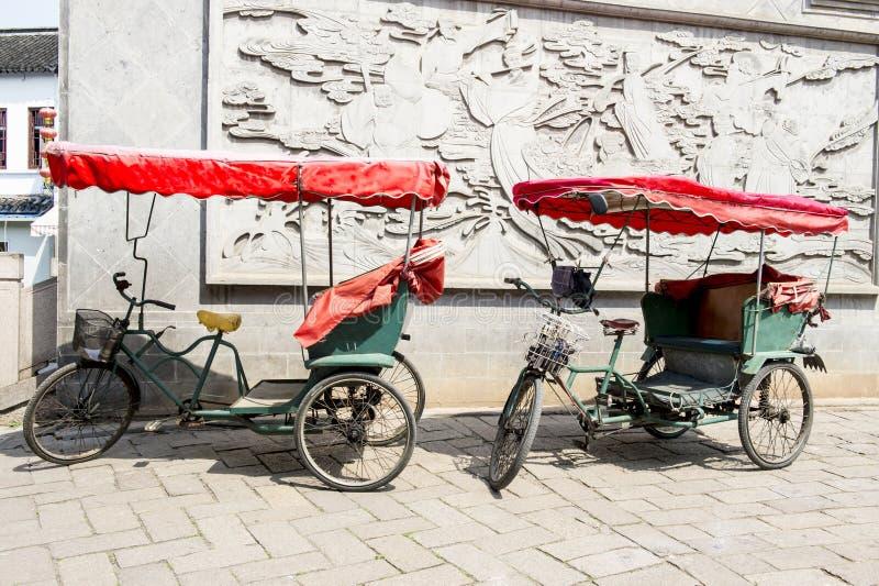 Pousse-pousses de cycle photographie stock libre de droits