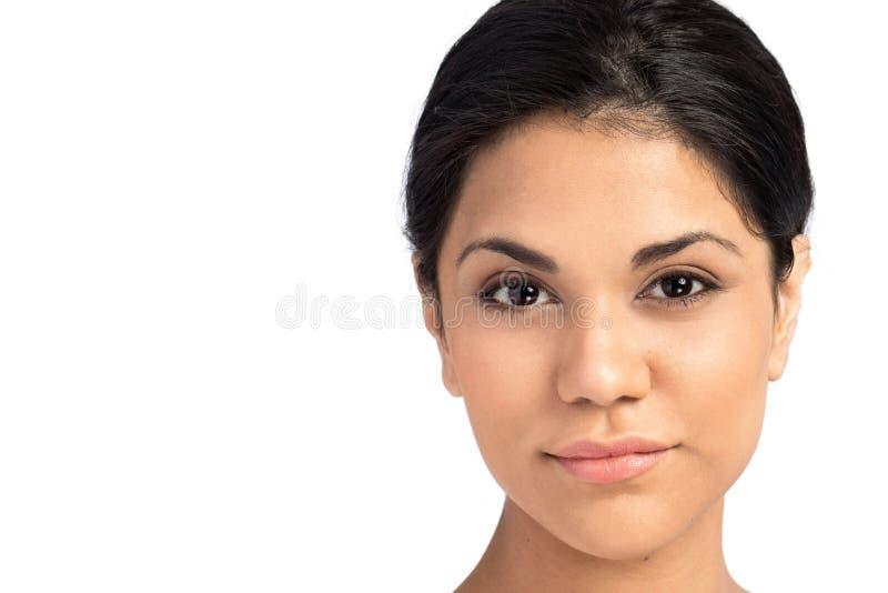 Pousse principale d'une femme hispanique photos stock