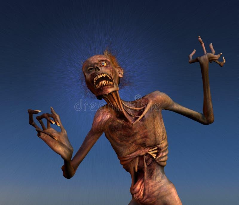 Pousser des cris perçants le zombi illustration stock