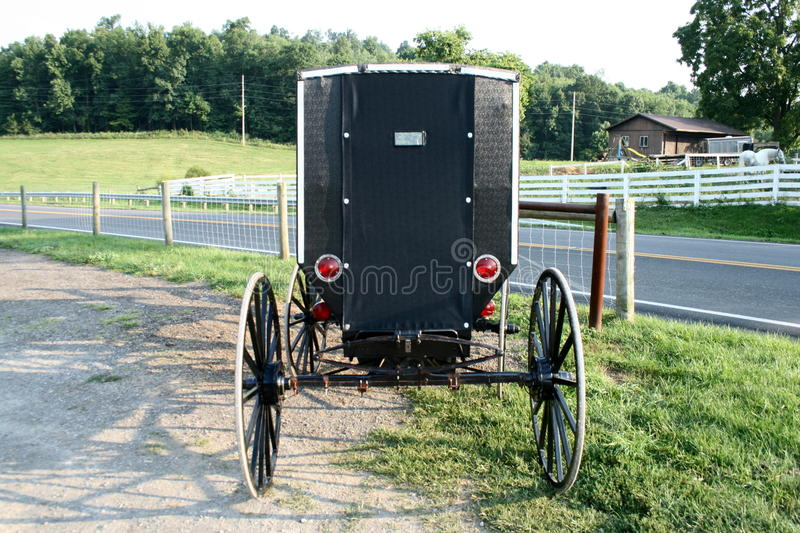 Poussette amish photographie stock
