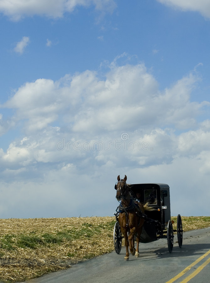 Poussette amish images stock