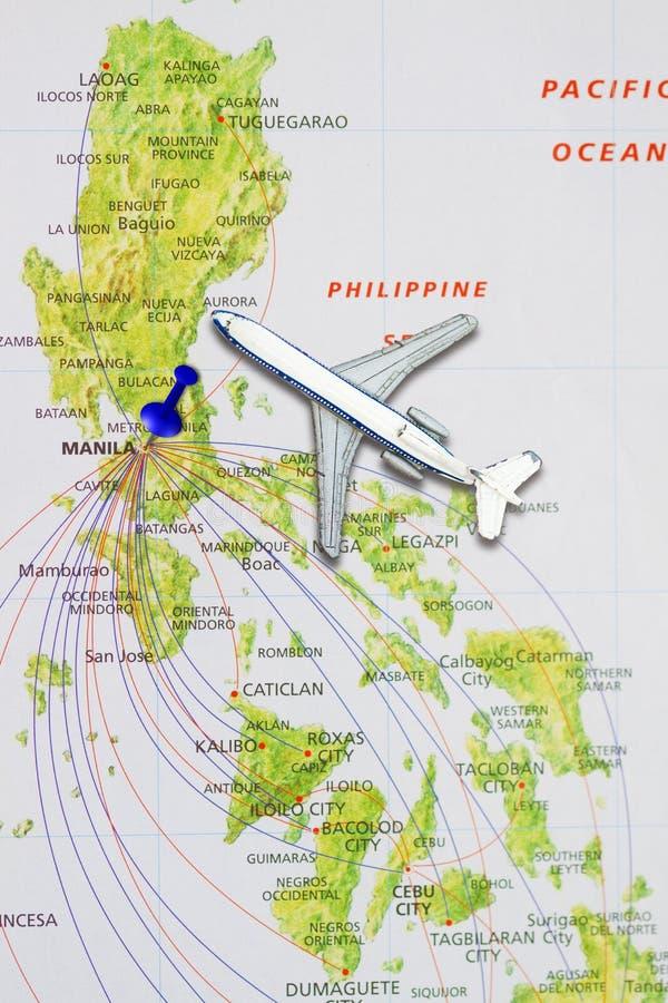 Poussez la goupille dirigeant Manille images libres de droits