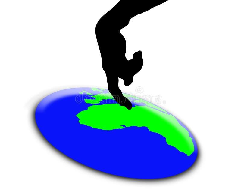 Poussez le bouton du monde illustration libre de droits