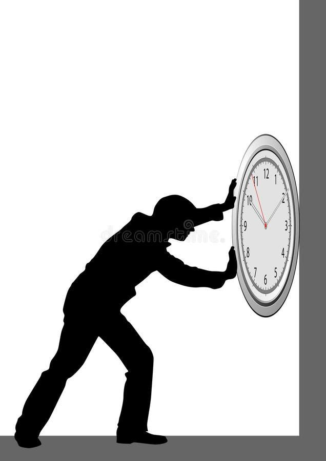 Poussoir de temps illustration stock
